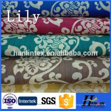 Tissu polyester 100% pongee / tissu pongee imprimé