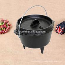 2016 nouveaux produits vente chaude plan de fonte noir trois jambes four hollandaire ustensiles de cuisine four hollandais