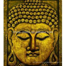 Impressão do Buddha na lona
