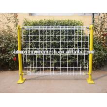 Garantía de comercio recubierto de valla de jardín de frontera post / sujetadores de malla de alambre de metal / vallas para jardines
