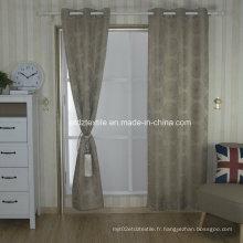 Tissu de rideau de fenêtre teinté en fil moulu Morden en polyester morden 2016