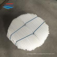 Embalagem ondulada da placa perfurada plástica