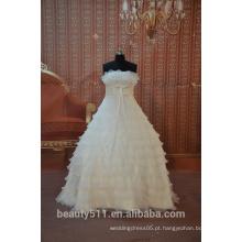 EM STOCK Off-The-Shoulder Fan plissada sem mangas bola vestido de noiva vestido de noiva SW03