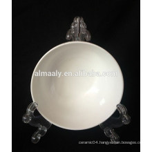 Wholesale ceramic footed bowl with golden line