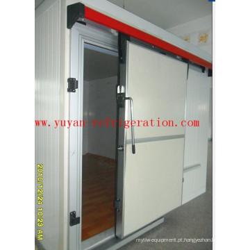 Porta deslizante manual à prova de fogo para sala de frio fresco