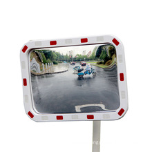 KL TP STAR Whole Stronger Material Reflection Warning Convex Mirror Red White Reflection, Security Mirror/