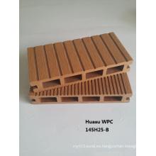 Plataforma de 145 * 25 mm hecha de compuesto de polímero WPC