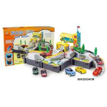 Niños coche conjunto bricolaje juguete de estacionamiento (h1436048)