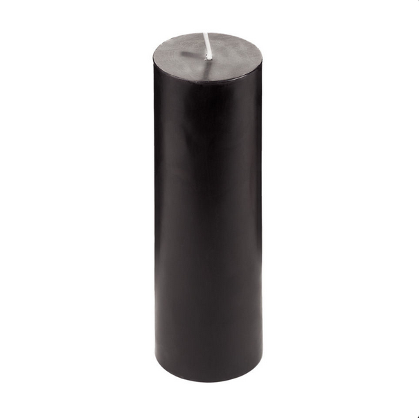Black Pillar Candle