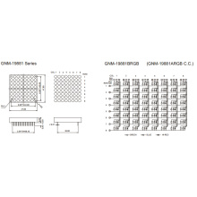 1,9 polegadas altura 4,8 mm matriz DOT (GNM-19881Axx-Bxx)