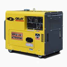 Luftgekühlter tragbarer geräuscharmer 5KVA Dieselgenerator