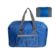 RPET recycle Ripstop folding bag Lightweight Travel Duffel Bag folding Sports Duffel Foldable Storage Travel Bag