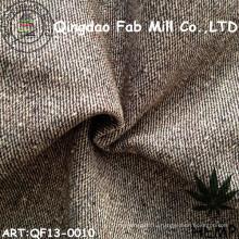 Конопляная / органическая хлопчатобумажная пряжа окрашенная ткань (QF13-0010)