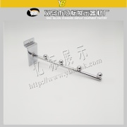 chrome straight 4 balls display slat wall hooks