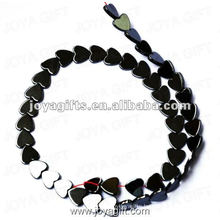 """10MM Loose Magnetic Hematite Heart Beads 16"""""""