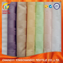 Tela teñida de raya del satén de algodón 100%