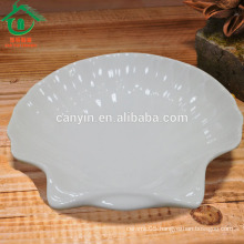 Special home decoration porcelain different shapes white plates ceramic