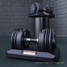 Fitness Rubber Weight Training All Steel Gym Neoprene Vinyl Black Painted Dumbbell