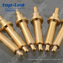 Double Ended Messing Pogo Pin mit Federbelastet und vergoldet, Strombelastung 2 ~ 15A, Kontaktwiderstand: 20 ~ 30mohm