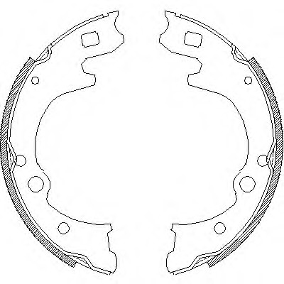 58305-44A60 Kia Bongo brake shoes