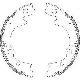 brake shoes for Hyundai H1 starex 58305-44A60