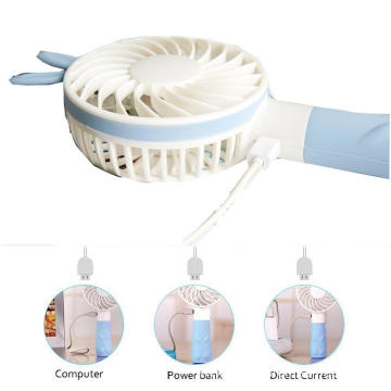 Portable Mini Handheld Air Rabbit Fan for Travel