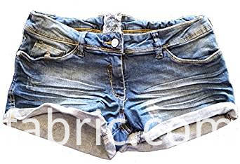 552women S Washed Distressed Denim Black Shorts Hotpants