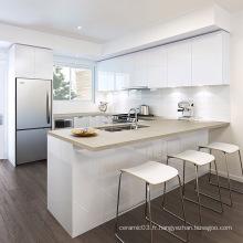 vente chaude blanc brillant armoires de cuisine usa