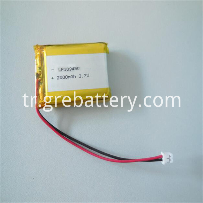 lithium ion battery 3.7 v 2000mah