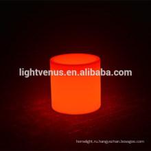 Специальный дизайн декоративных освещенный открытый цветочные горшки, полюс свет Светодиодные плантатора