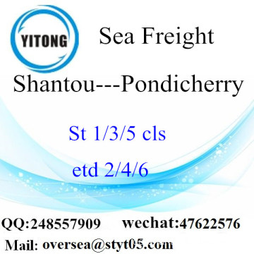 Shantou Port LCL Konsolidierung zu Pondicherry