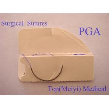 Хирургический шов полигликолевой кислоты