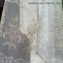 Fashion Design Golden Seil Stickerei Stil auf Voile