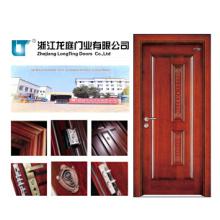 Puerta de madera de la entrada interior hecha en China (LTS-403)
