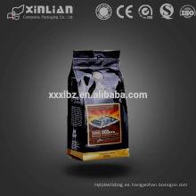 Hoja laminada de fondo plano 12 oz bolsa de café