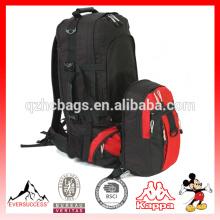 Mochila de senderismo de poliéster de alta calidad en venta mochila adjunta