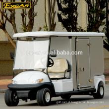 2 assentos certificação CE preços carrinho de golfe elétrico com caixa de carga personalizada
