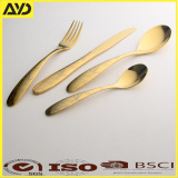 18/10 Stainless Steel 4 Piece with PVD gold Mirror Finish