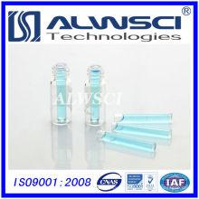 Vial de 2 ml con micro inserto vial de HPLC vial de vidrio tubular transparente