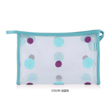 Lady Fashion Dots Printed Clear PVC Cosmetic Toiletry Bag (YKY7533-8)