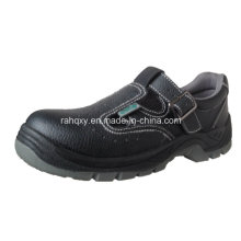 Casual Sandal Style Split Embossed Leather Safety Shoes (HQ05036)