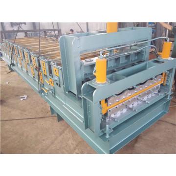 Máquina formadora de rollos de doble capa de panel para techos vidriados
