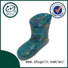 Crystal mignon bottes de pluie imperméable étudiant chaussures avec des bottes de pluie Chilren gelée pour vente C-705