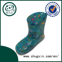 Crystal Cute Rain Boots Waterproof Student Shoes with Jelly Chilren Rain Boots for Sale C-705