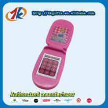 Подарок промотирования пластиковый розовый флип Телефон игрушка для детей