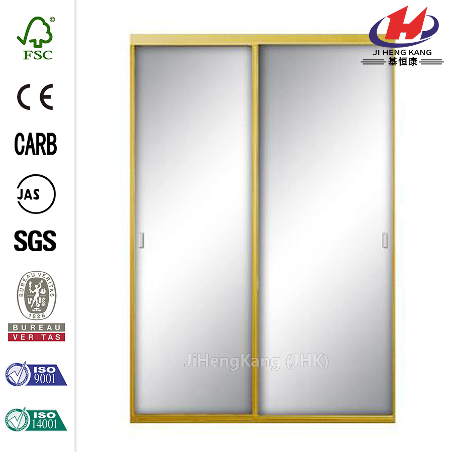 Asprey Bright Gold Mirror Sliding Door