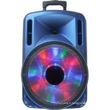 Haut-parleur portatif de batterie de 12 pouces, USB, lumière disco, radio FM F12-1