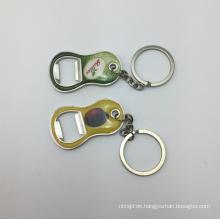 Neuer Entwurfsdruck Epoxybier keychain Flaschenöffner