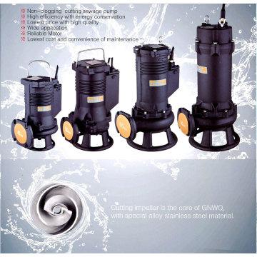 Pompe à graisseur d'eaux usées submersible à découpe sans entêtement