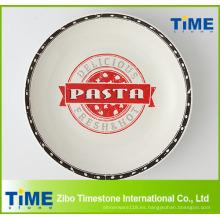 Tazón de porción de pasta de porcelana de forma redonda